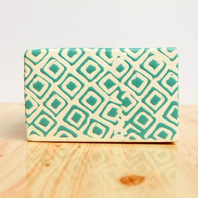 5.5 inch Square Green Decorative Ceramic Pot