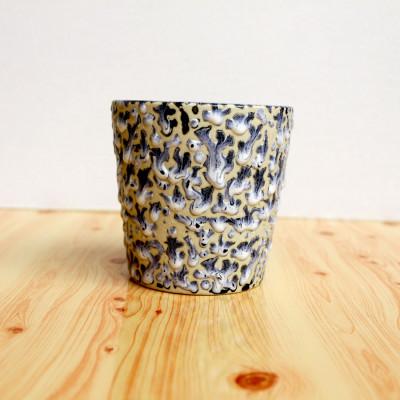 4 inch Blue Glossy Texture Ceramic Pot