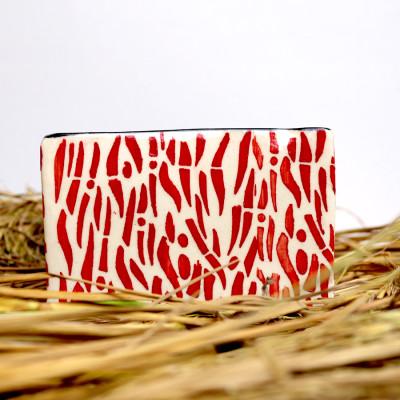 5.5 inch Red Decorative Square Ceramic Pot