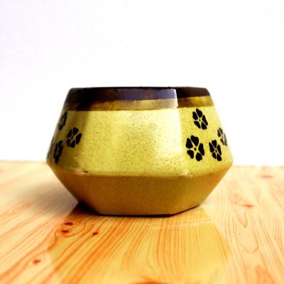 4 inch Hexagon Matki Wood Ceramic Pot