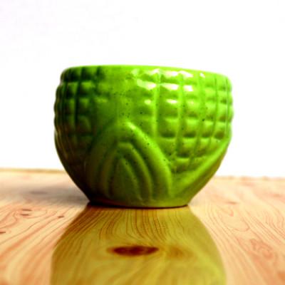 4 inch Football Green Decorative Ceramic Pot
