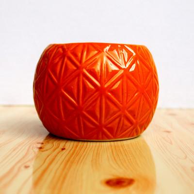 4.5 inch Football Triangle Decorative Ceramic Pot