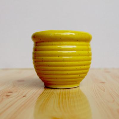 3 inch Kulhad Shape Yellow Ceramic Pot