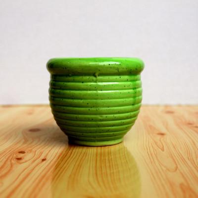 3 inch Kulhad Shape Green Ceramic Pot