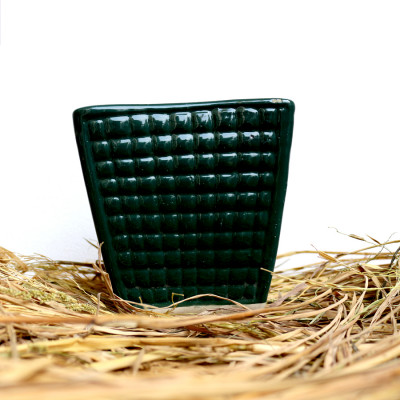 5 inch Honeycomb Green Ceramic Pot