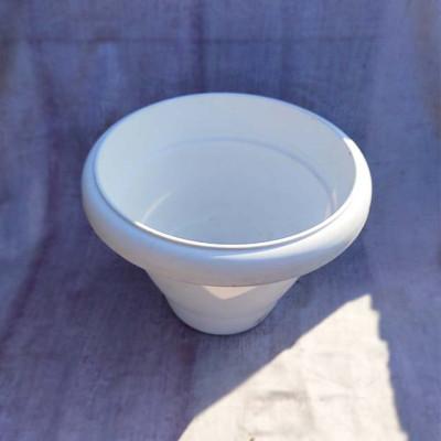 Oval Design White Plastic Planter