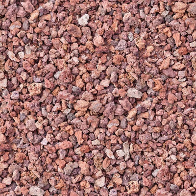 Red rock pebbles