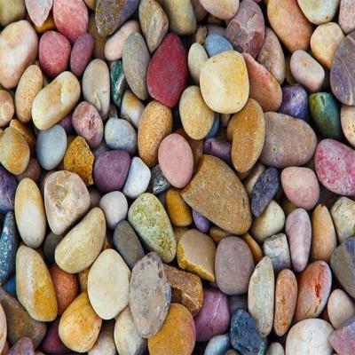 Natural multicolour pebbles