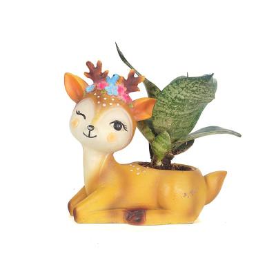 Resin Deer Snake Plant Pots Flower decoration Pot Creative Animal Home and Garden Decor